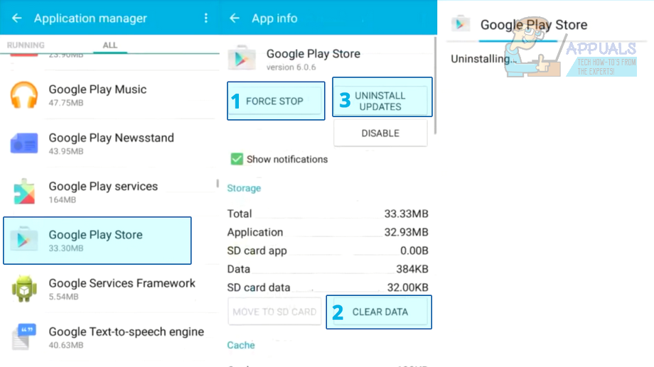 How to fix the 501 error in the Google Play Store 2