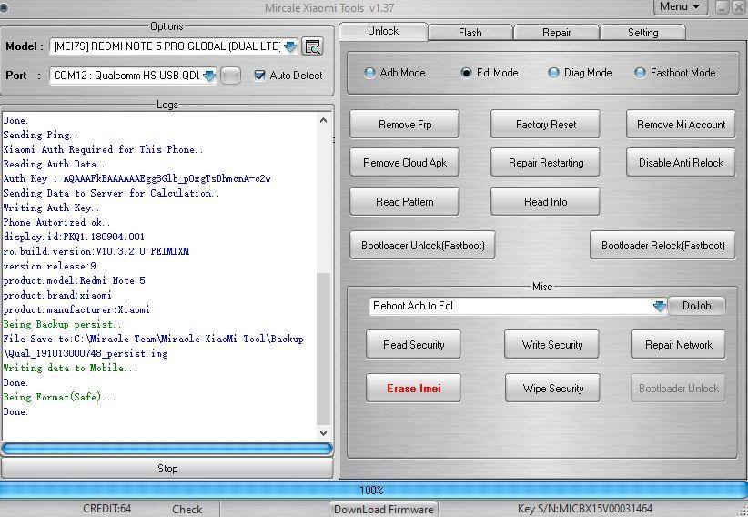 redmi note 5 pro mi account remove file