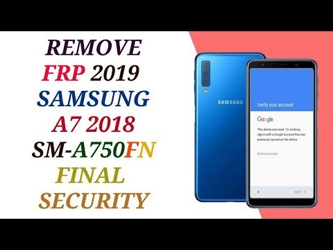 remove frp samsung a750fn reset bypass a7 2018 final security account 2