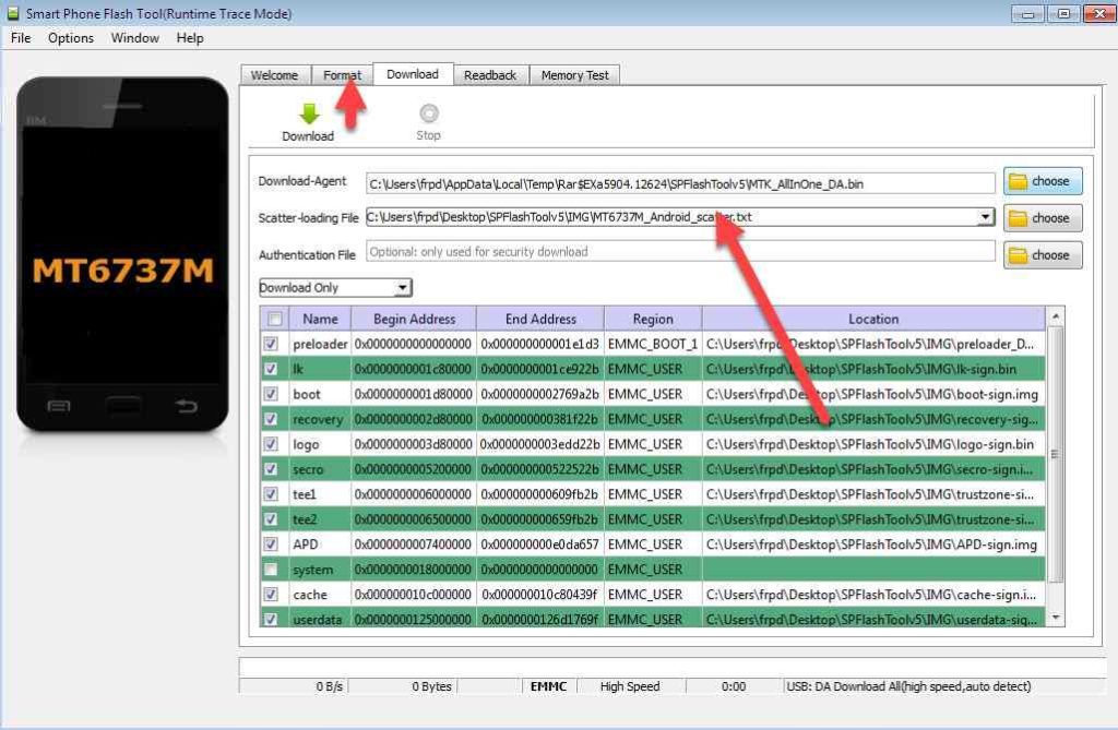 remove frp asus x008d done by scatter MT6737M_Android_scatter.txt 3