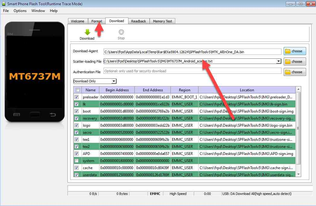 remove frp asus x008d done by scatter MT6737M_Android_scatter.txt 1