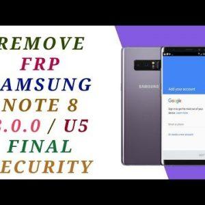remove frp samsung note 8 google account n950f u5 7
