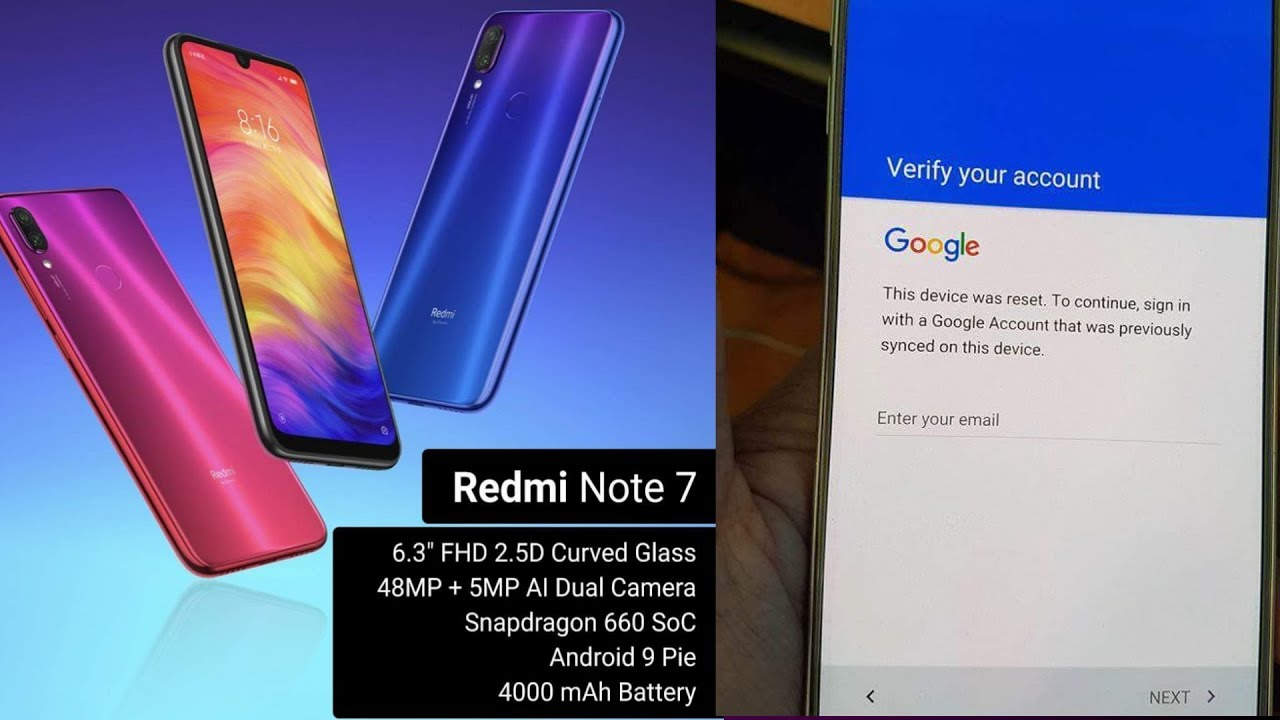 remove frp redmi note 7 bypass account google xiaomi note 7 1