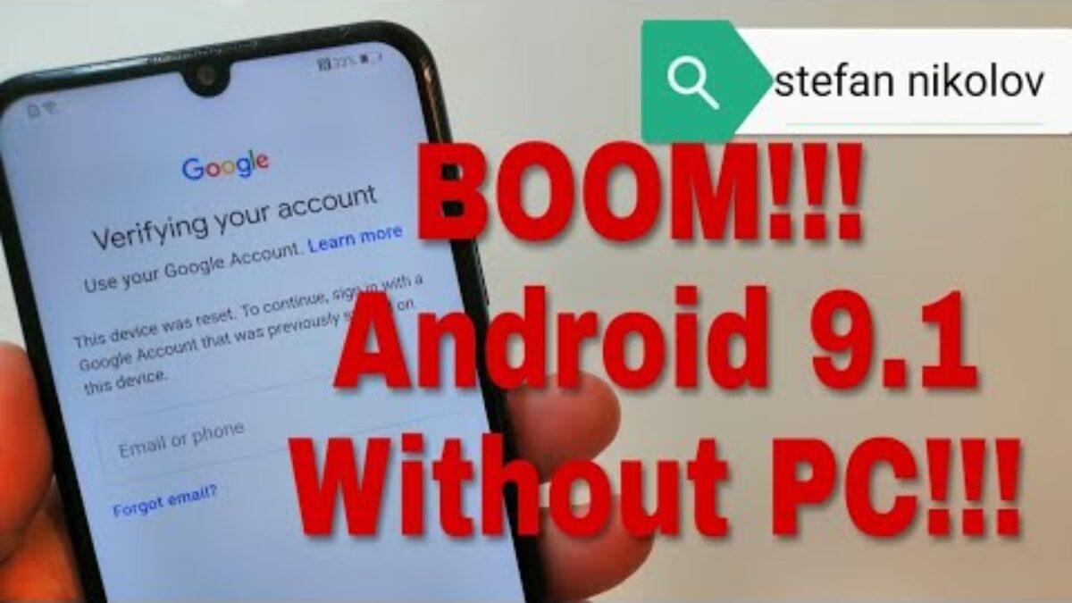 Remove FRP Pot-Lx1 Huawei P Smart 2019 Emui 9.1.0 Google Account Frp Done