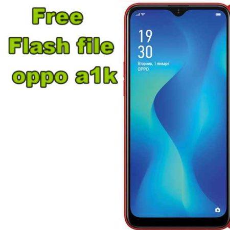 firmware oppo a1k