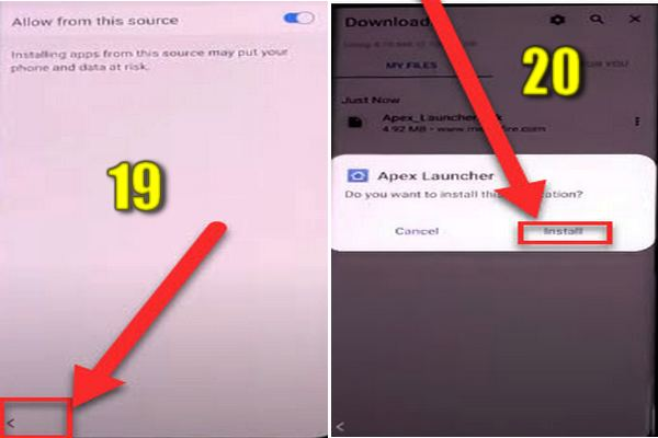 how to bypass samsung s10/s10+/s10e frp without pc and apk 11